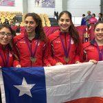Chile ganó oro en florete por equipos femenino del Sudamericano Menores de Esgrima