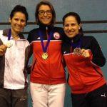 Caterin Bravo gana medalla de oro en el Nacional Brasileño de Esgrima