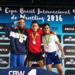 Team Chile de Lucha Olímpica obtuvo dos medallas de oro en la Copa Brasil