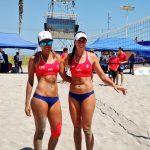 Chile debutó con triunfos en el volleyball playa femenino de Iquique 2016