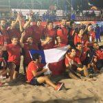 """Los """"Cóndores"""" entregaron un nuevo oro para Chile en los Juegos Bolivarianos de Playa"""