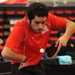 Matías Pino se apresta a participar en el Chile Open de tenis de mesa paralímpico