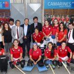 Se inauguraron los camarines de la cancha de hockey patín del Estadio Nacional