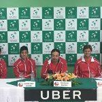 Equipo chileno de Copa Davis dio conferencia de prensa en Republica Dominicana