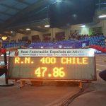 Sergio Aldea logra nuevo récord chileno de los 400 metros planos indoor