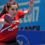 Valentina Ríos ganó el título sub 21 del Chile Open de tenis de mesa