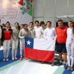 Selección Chilena de Esgrima logra el puesto 14 por equipos en el Mundial Cadete