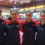 Chile obtiene medalla de bronce por equipos en el Iberoamericano de Tenis de Mesa