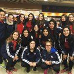 La Roja Femenina de Handball viajó a Brasil para preparar su participación en el Panamericano