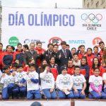En el centro de Santiago se celebró el Día Olímpico 2017