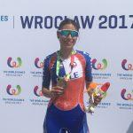 Alejandra Traslaviña suma un nuevo bronce para Chile en el patín carrera de los World Games
