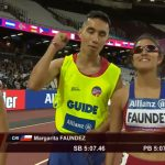 Margarita Faúndez obtuvo el sexto lugar en los 1500 metros del Mundial de Atletismo Paralímpico
