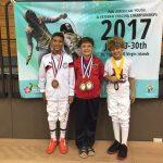 Gaspar Latham sumó un nuevo bronce para Chile en el Panamericano Infantil de Esgrima
