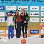Amanda Cerna ganó medalla de oro en el Mundial Juvenil de Atletismo Paralímpico