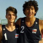 Gaspar Lammel y Vicente Droguett avanzan a semifinales en la tercera fecha del Sudamericano U17 de Volleyball Playa