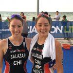 Macarena y Catalina Salazar terminaron entre las 30 mejores de la ITU World Cup de Yucatán