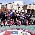 Comité Olímpico de Chile entrega tercera multicancha para comunidades de escasos recursos