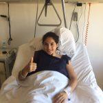 Bárbara Santibañez fue operada con éxito de su rotura de ligamento cruzado