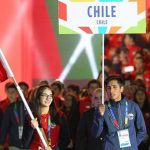 Katina Proestakis lideró a la delegación chilena en la inauguración de los Juegos Sudamericanos de la Juventud