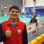 Alonso Medel debutó este domingo en el bádminton de los Juegos Olímpicos de la Juventud