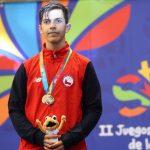 Joaquín Bustos ganó medalla de plata en la esgrima en los Juegos Suramericanos de la Juventud