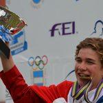Mateo Guarda ganó medalla de bronce en el cierre del Campeonato Americano de Salto Ecuestre