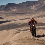 Tomás de Gavardo ganó las dos etapas de las motos en la jornada sabatina del Baja Atacama