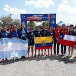 Equipo de relevos mixto le entrega un bronce a Chile en el triatlón de los Juegos Suramericanos de la Juventud