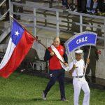 Con Andrés Ayub como abanderado desfiló el Team Chile en la inauguración de los Juegos Bolivarianos 2017