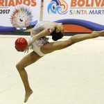 Javiera Rubilar obtuvo el cuarto lugar en la final de aro en Cochabamba
