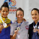 Kristel Köbrich gana medalla de oro en los 800 metros libres de los Juegos Bolivarianos