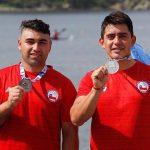 Carlos Arévalo y Michael García ganan medalla de plata en el canotaje de los Juegos Bolivarianos