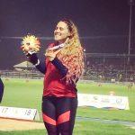 Natalia Duco y Carlos Díaz ganan medalla de oro en el atletismo de los Juegos Bolivarianos