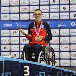 Alberto Abarza gana histórica medalla de bronce en el Mundial de Natación Paralímpica