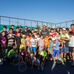 Nicolás Massú y Fernando González compartieron con niños de la Población Santa Adriana