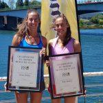 Antonia y Melita Abraham recibieron su diploma de campeonas mundiales sub 23 de remo