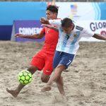 Chile cayó ante Argentina en la tercera jornada de la Copa América de Fútbol Playa