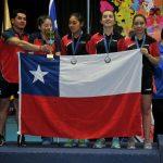 Chile sumó una plata y tres bronces en la competencia por equipos del Sudamericano Infantil y Juvenil de Tenis de Mesa