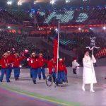 Diego Seguel comandó la delegación chilena en la inauguración de los Juegos Paralímpicos de Invierno 2018