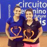 Fernanda Brito y Camila Giangreco se titularon campeonas de dobles del ITF 15K de Campinas