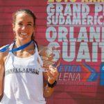María Fernanda Mackenna marcó un nuevo récord nacional de 400 metros planos en el torneo Orlando Guaita