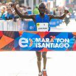 El keniata Luka Lobuwan se tituló bicampeón del Maratón de Santiago