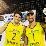 Primos Grimalt ganan medalla de bronce en la fecha final del Circuito Sudamericano de Volleyball Playa