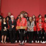 La Roja Femenina fue recibida por las máximas autoridades del país en La Moneda
