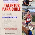 Concepción recibirá la segunda jornada del programa Talentos Para-Chile 2018