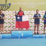 Valentina Ríos gana medalla de oro en fecha paraguaya del Circuito Mundial Juvenil de Tenis de Mesa
