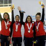 La cuarteta chilena femenina de persecución ganó medalla de plata en el ciclismo de Cochabamba