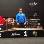 Juan Carlos Garrido y Marión Serrano ganaron medalla de plata en el Open Regional Europeo de Para-Powerlifting