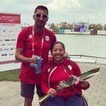 Katherinne Wollermann y Robinson Méndez se subieron al podio en la Copa del Mundo de Para-Canotaje