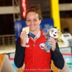 Kristel Köbrich se quedó con la medalla de oro en los 400 metros libres de la natación en Cochabamba 2018